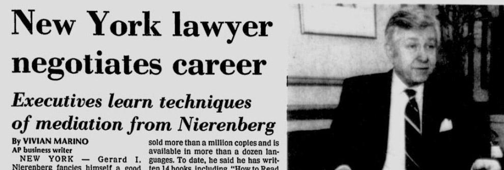 New York lawyer negotiates career